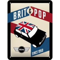 "TARGA SMALTATA ""BRIT POP"" 15x20"