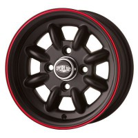 "CERCHIO IN LEGA SUPERLIGHT 5x12"" *NERO OPACO*"