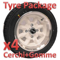 "TYRE PACKAGE SUPERLIGHT 6x12"" *BIANCO*"