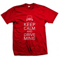 T-SHIRT KEEP CALM RED - UOMO