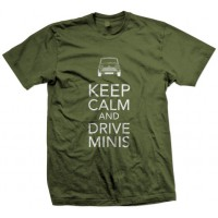T-SHIRT KEEP CALM MILITARY GREEN - UOMO