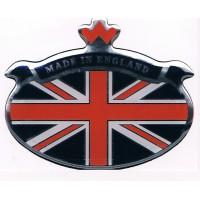 STICKER MADE IN ENGLAND RESINATO