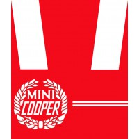 KIT DECAL ROVER MINI COOPER BIANCO