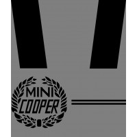 KIT DECAL ROVER MINI COOPER NERO